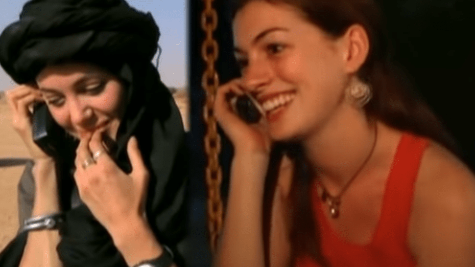 Angelina Jolie E Anne Hathaway In Una Scena Del Documentario
